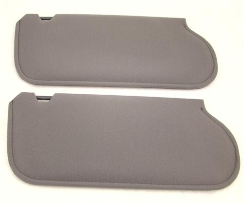 Mustang Sun Visors Smoke Gray Cloth (87-89) 21-73205-1853X
