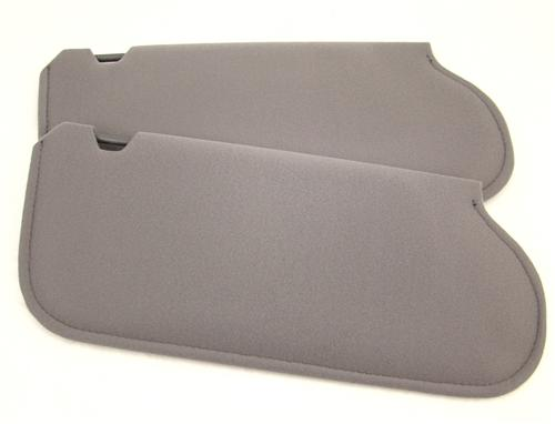 TMI Mustang Sun Visors Dark Gray Cloth  (85-86) 21-73205-1769