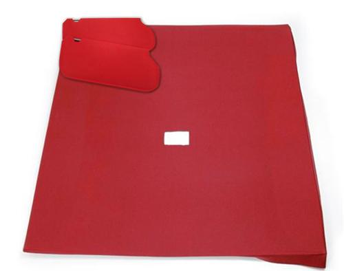 Mustang Sunvisor And Headliner Kit Scarlet Red Cloth (87-92) Hatchback