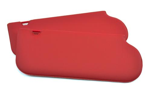 TMI Mustang Sun Visors for Sunroof Scarlet Red Vinyl (87-92) 21-73206-850