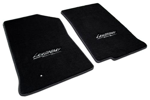F-150 SVT Lightning Floor Mats with Lightning Logo Black  (99-04) VT5-3305210-4766-1960-V829050
