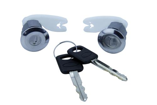 1993-84 Lightning Lock Set with Chrome Bezel, Includes Keys