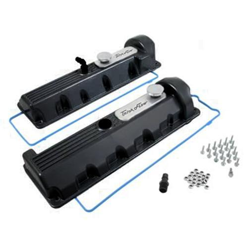 Trick Flow F-150 SVT Lightning Aluminum Valve Covers, 13/14 Bolt Windsor Black (99-04) 5.4 51811802