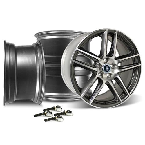 Ford Performance Mustang 2012 Boss 302 Laguna Seca Wheel Kit 19X9/10 Charcoal (05-14) M-1007KIT-DC19910CH