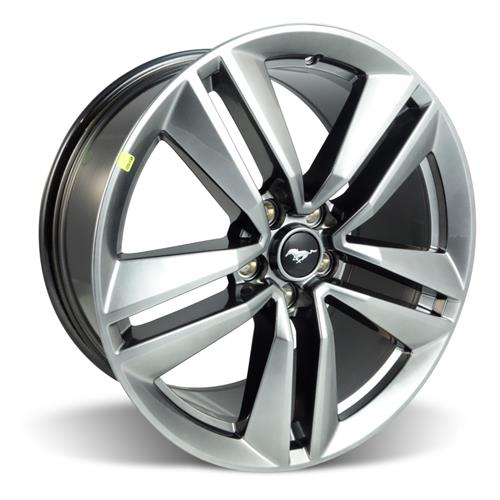 "Ford Racing Mustang EcoBoost Performance Package Wheel 19x9"" Dark Stainless  (15-16) M-1007-M199DS"