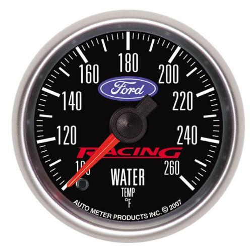 "Ford Racing Coolant Temperature Gauge - 2-1/16"" - Stepper M-10883-BFSE"