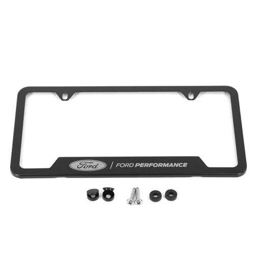 Ford Performance License Plate Frame - Black Stainless Steel M-1828 ...