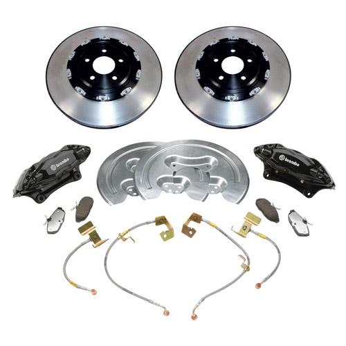 "2005-2014 MUSTANG GT500 STYLE 14"" FRONT BRAKE KIT with 2-piece front rotors M-2300-SA"