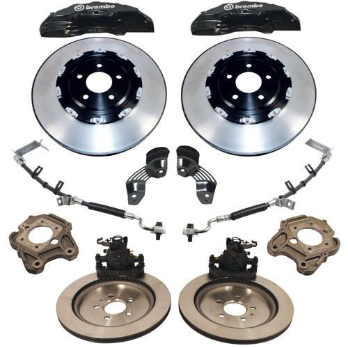 2005-14 Mustang Brembo Brake Upgrade with 2-piece front rotors , 13-14 GT500 style M-2300-TA