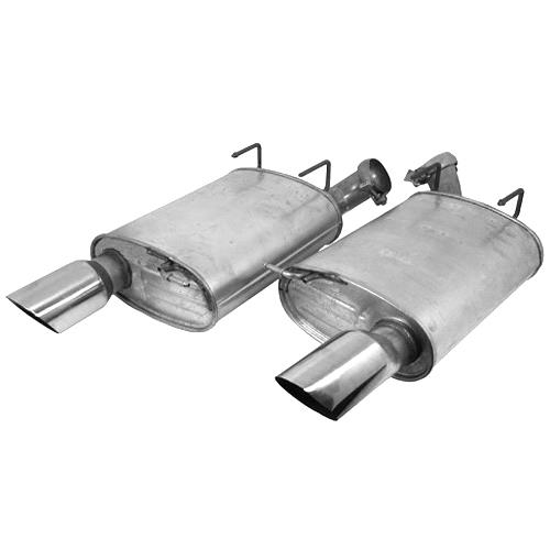 Ford Racing Mustang Touring Axle-Back Exhaust Kit (11-14) GT M-5230-MGTCA