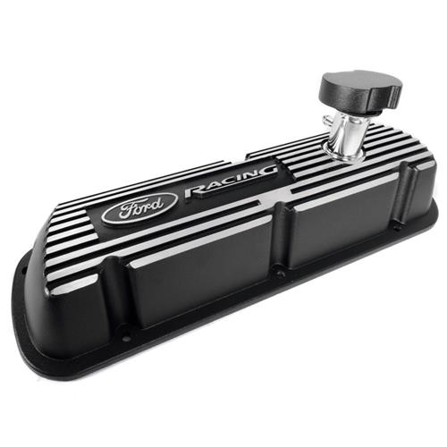 Ford Racing Mustang Valve Covers w/ Ford Racing Logo Black (86-93) 5.0 M6000J302R