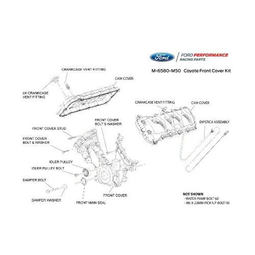 Ford Performance Mustang Coyote Timing Cover & Cam Cover