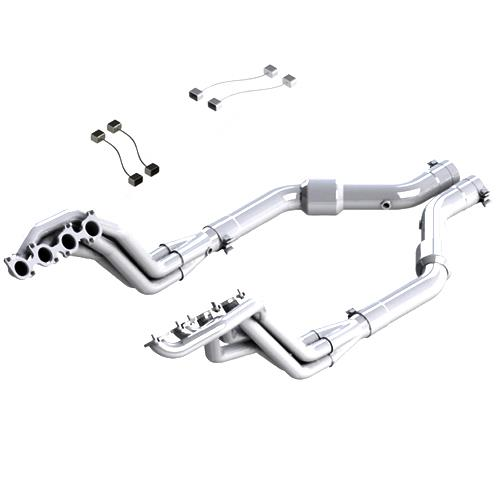 "MBRP Mustang Long Tube Header & Mid-Pipe Kit - 3"" Catted (15-16) GT 5.0 S7245304"