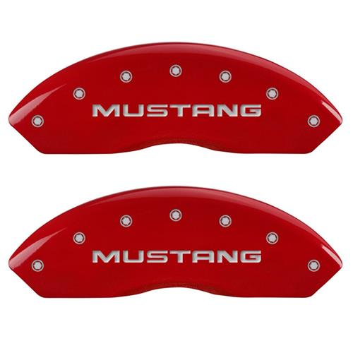 MGP Mustang Caliper Covers - Mustang/GT  - Red (99-04) 10095SMG1RD