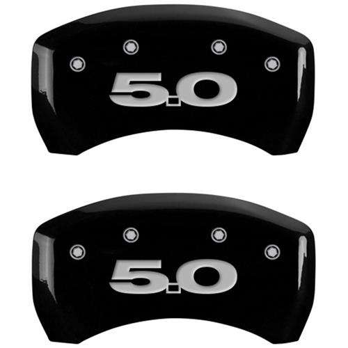 MGP Mustang Caliper Covers - Mustang/5.0  - Black (10-14) 10198SM50BK