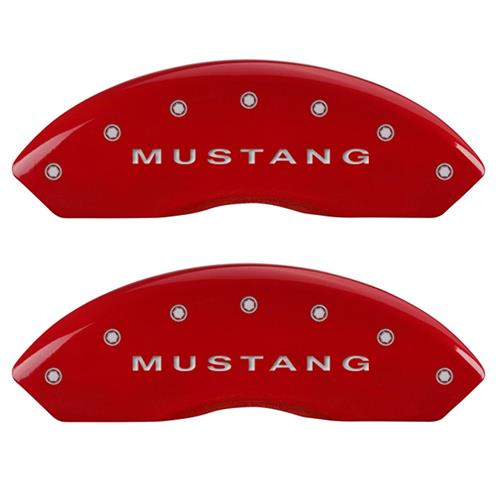 MGP Mustang Caliper Covers - Mustang/Pony  - Red (10-14) 10198SMBPRD