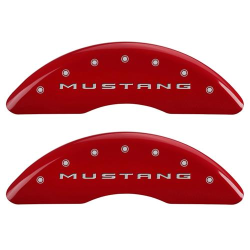 MGP Mustang Caliper Covers - Mustang/5.0  - Red - 4 Piston (15-17) GT MGP-10200SM52RD