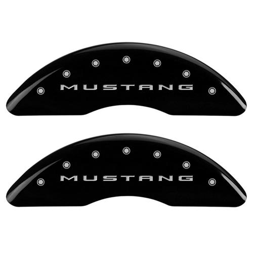 MGP Mustang Caliper Covers - Mustang/Pony  - Black - 4 Piston (15-17) 10200SMB2BK