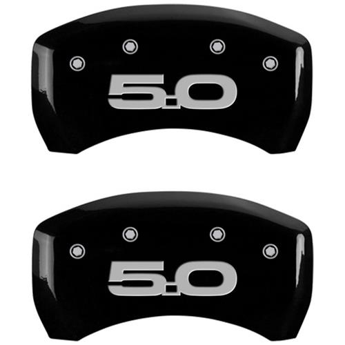 MGP Mustang Caliper Covers - Mustang/5.0  - Black - 6 Piston (15-17) GT 10201SM52BK