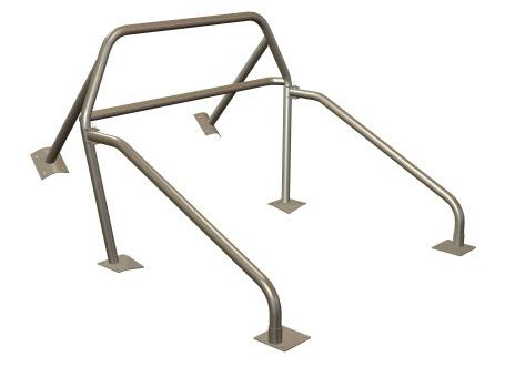 Maximum Motorsports  Mustang Nhra 6 Point Rollbar w/ Swing Out Door Bars And Welded Brace (79-93) Convertible MMRB-11