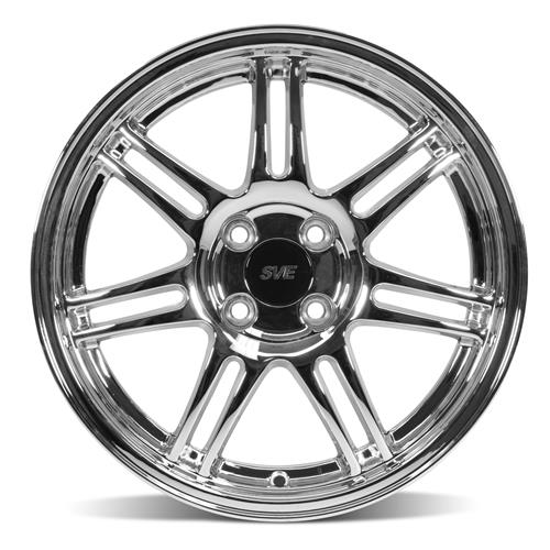 Mustang Anniversary Wheel & Tire Kit - 17x9/10  - Chrome - NT555 G2 Tires (79-93)