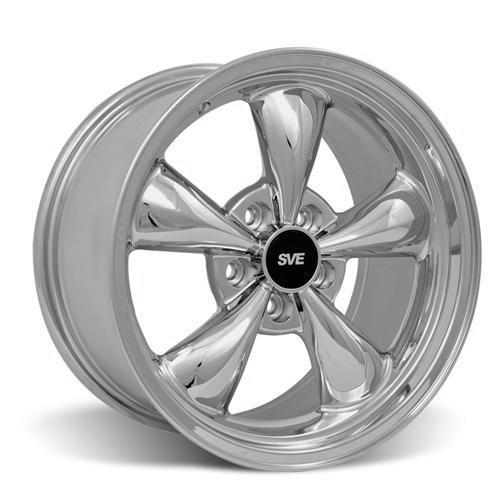 SVE Mustang Bullitt Wheel & Tire Kit - Drag Radial  - 17x9/10  - Chrome (94-04) Nitto NT555 G2 / NT555R2