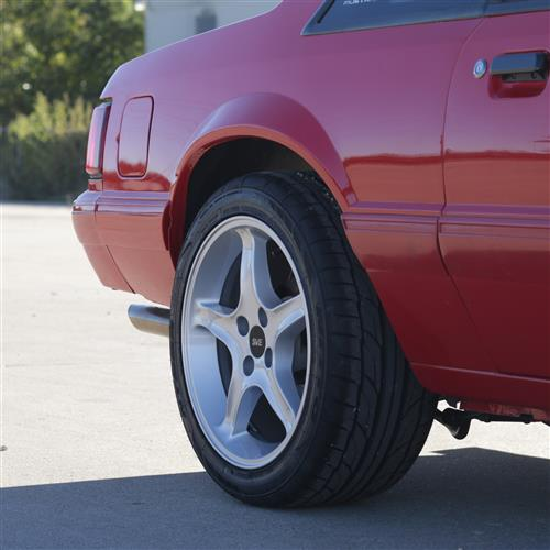 Mustang Cobra R Wheel Kit - 17x8/9 Silver (79-93)
