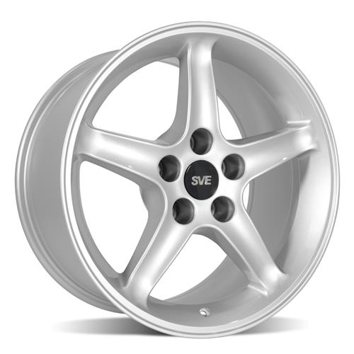 Mustang Cobra R Wheel & Tire Kit - 17x9  - Silver - M/T Tires (94-04)