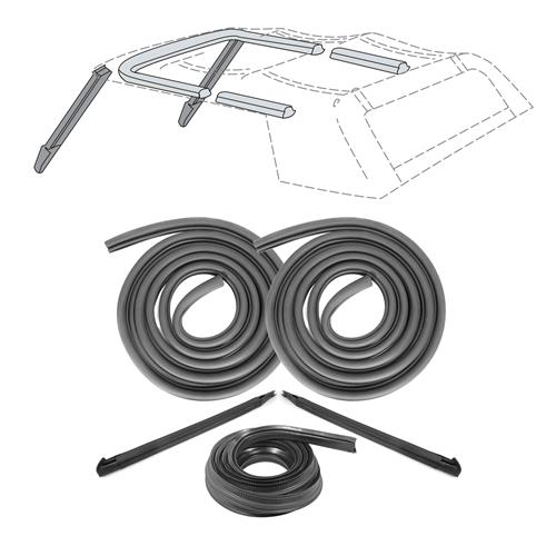 Mustang Convertible Top 10 Piece Weatherstrip Kit From 10/87 (88-93)