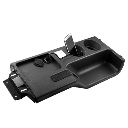 Mustang Cup Holder Console Panel  - Black (87-93) E8ZZ-6104490-BH