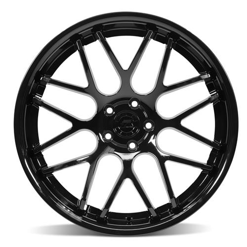 Mustang Downforce Wheel Kit - 20x8.5/10 Gloss Black (15-18)