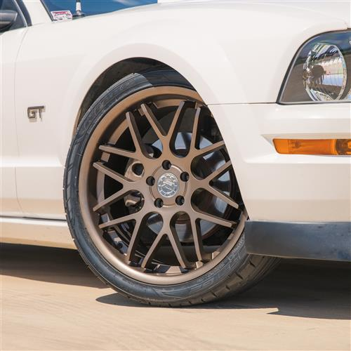 Mustang Downforce Wheel & Tire Kit - 20x8.5/10  - Satin Bronze - NT05 Tires (05-14)