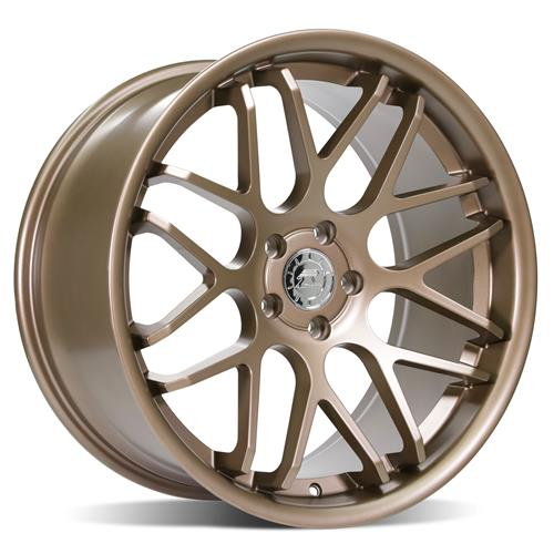 Mustang Downforce Wheel & Tire Kit - 20x8.5/10  - Satin Bronze - Ohtsu Tires (15-20)
