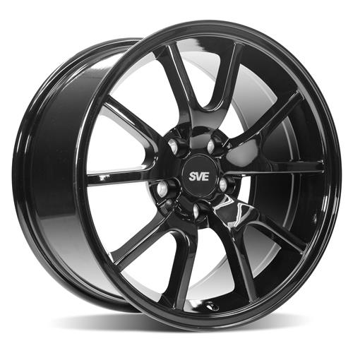 Mustang FR500 Wheel & Tire Kit - 17x9/10.5  - Gloss Black - Nitto G2 Tires (94-04)