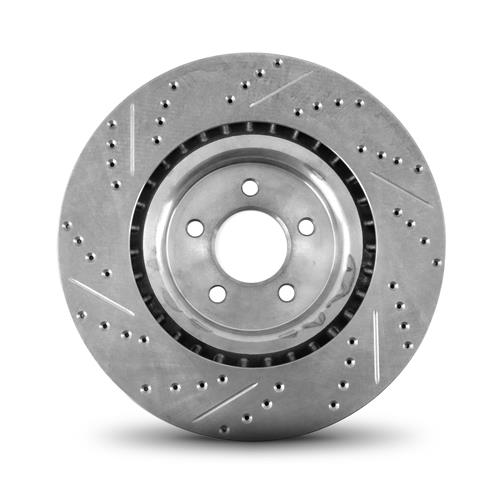 "Mustang Front Brake Rotors - 15"" - Drilled & Slotted (15-19) GT Performance Pack"