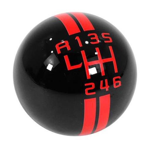 Mustang GT500 Style Shift Knob  - Black w/ Red Shift Pattern (11-14)