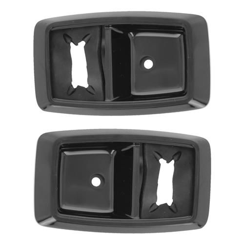 Mustang Inner Door Handle Bezel Kit Black (79-93)