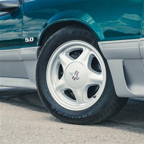 Mustang Pony Wheel & Tire Kit - 16x7  - Silver - RS3-G1 Tires (79-93)