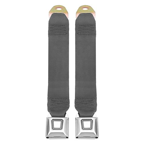 Mustang Rear Seat Belt Set  - Dark Gray/SVO Gray (84-86)