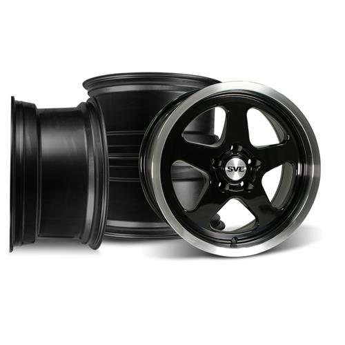 Mustang Saleen Sc 17x9 Wheel Kit Black 94 04 Lmr