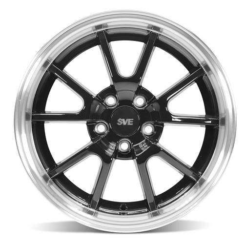 Mustang Staggered FR500 Wheel & Tire Kit - 17x9/10.5  - Black - Nitto G2 Tires  (94-04) Nitto G2