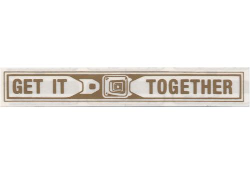 "Mustang ""Get It Together"" Seat Belt Window Decal (79-85)"
