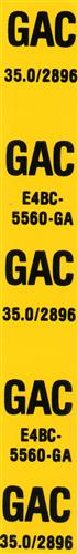 Mustang Rear Spring GAC Decal (1984) GT
