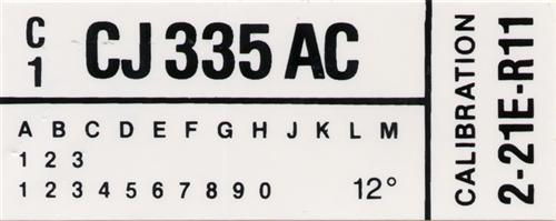 Mustang Engine Code Decal w/ A/C (1982) GT