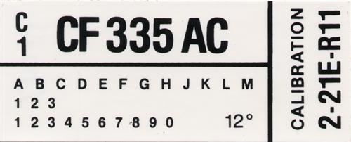 Mustang Engine Code Decal w/o A/C (1982) GT