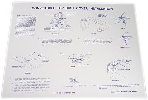 Mustang Convertible Dust Cover Instructions (85-91)