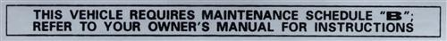 Mustang Glove Box Maintenance Decal (1979)