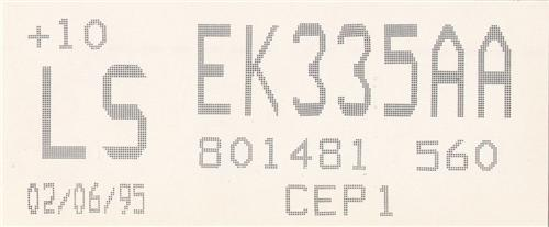 Mustang Cobra R Engine Code Decal (1995)
