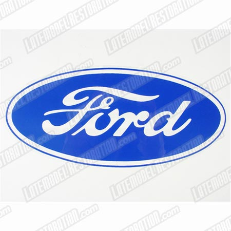 "Ford Oval Decal w/ Clear Background - 17""X8"""