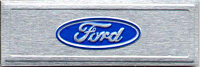 Mustang Ford Oval Sill Plate Decal (79-93)